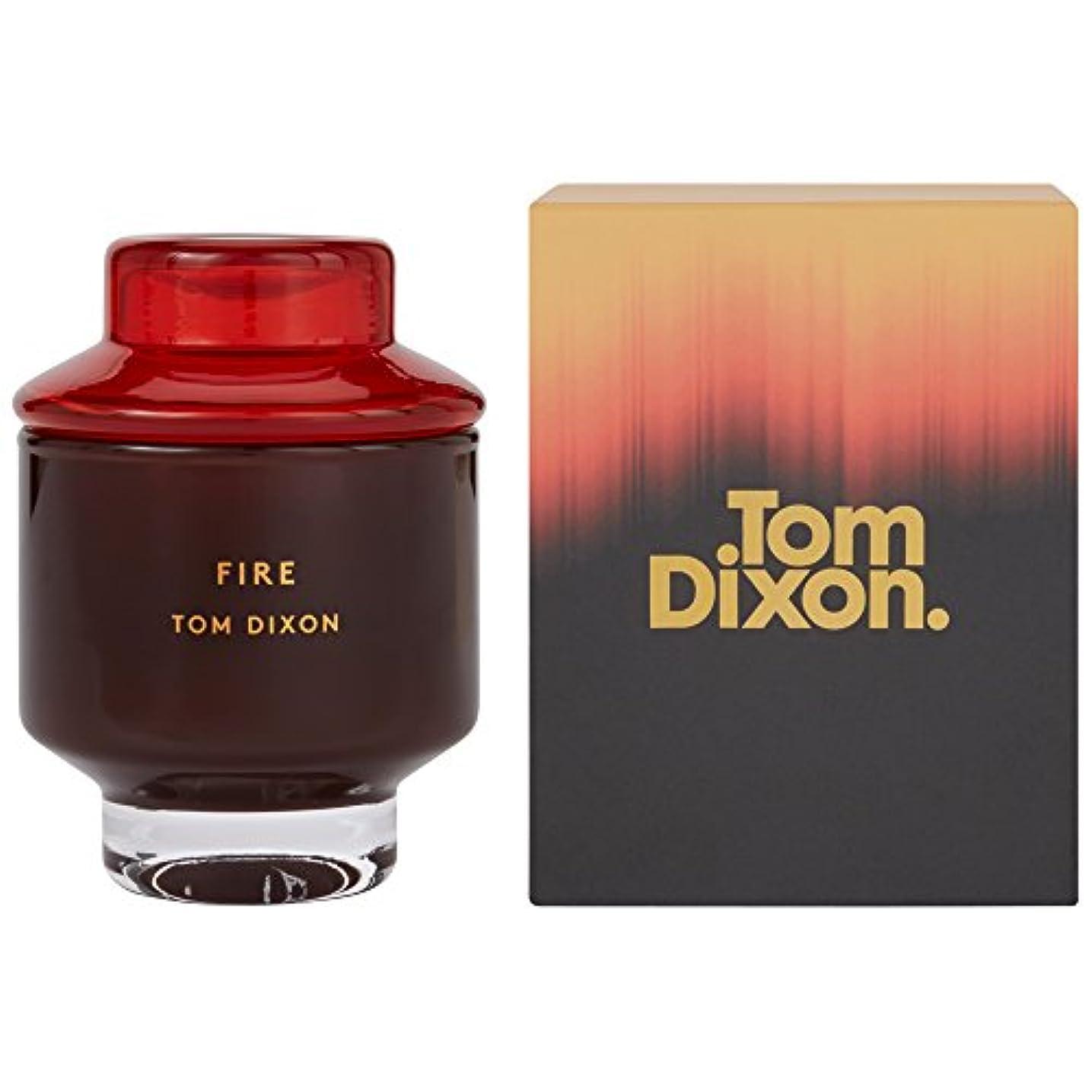 レコーダーリンスミシン目Tom Dixon Fire Scented Candle Medium (Pack of 2) - トム?ディクソン火災香りのキャンドル媒体 x2 [並行輸入品]