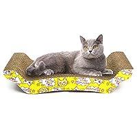 ACHICOO ペットの猫の傷板の湾曲した形の段ボール紙の猫のための面白いおもちゃ