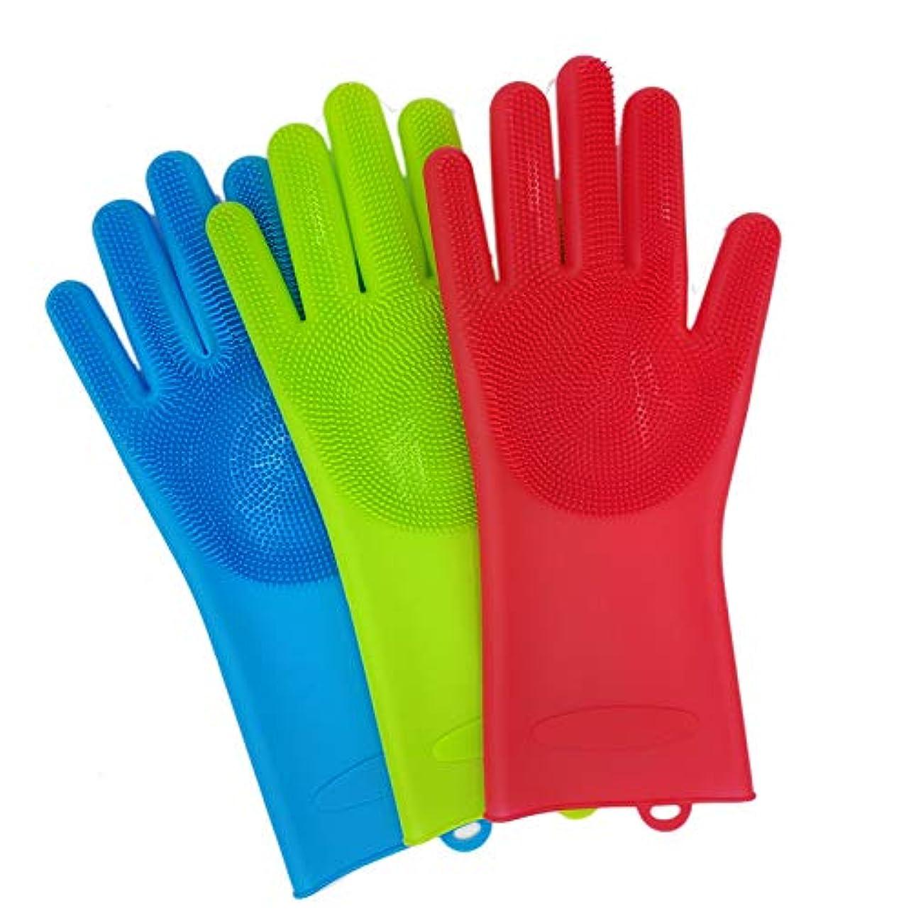 BTXXYJP 手袋 ペット ブラシ 猫 ブラシ グローブ 耐摩耗 クリーナー 抜け毛取り マッサージブラシ 犬 グローブ ペット毛取りブラシ お手入れ (Color : Blue, Size : L)