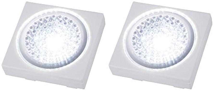 もう一度些細汚物オーム電機 LEDプッシュライト 2個入り NIT-BP1D-2P