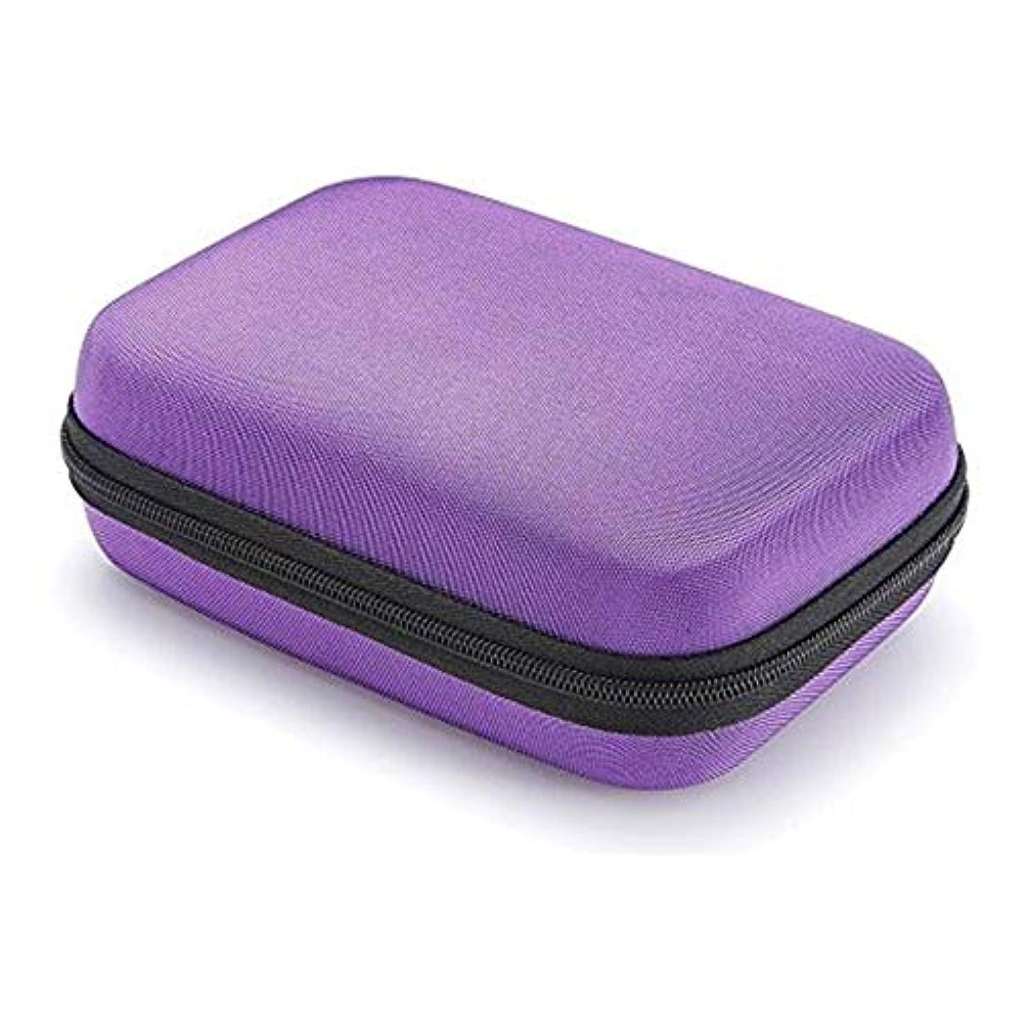 傑作ハード奨学金エッセンシャルオイル収納ケース 収納バッグ 携帯用ポーチ EVA製 防水 耐衝撃性 12本入り 10ml?15mlのボルトに適用 3色選べる junexi