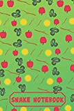 「Snake Notebook: Cute Snake Notebook/Journal for Animal Lovers or Kids to Writing Notes 120 Pages 6x9 Inch. Green&Red Pattern」の画像