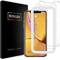 【2枚セット】 Nimaso iPhone XR 用 強化ガラス液晶保護フィルム 硬度9H/高透過率/貼り付け簡単 ( 6.1 インチ iPhoneXR 用 保護フィルム )