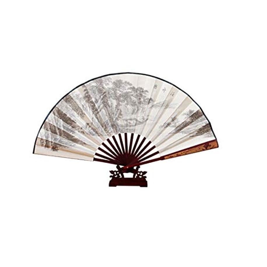 タヒチお肉公爵KATH ファン、シルクファン、中国の特別な贈り物、クリエイティブ?ギフト扇子