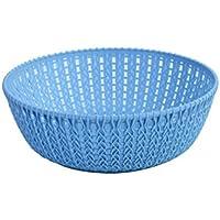 YI LU Deng JU- プラスチックバスケットバスケット、バスケット衣類バスケット、バスルーム汚れた洗濯バケツ、おもちゃボックス、収納バスケット (色 : ライトブルー)