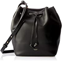 Oroton Women's Escape Medium Bucket Bag, Black, One Size