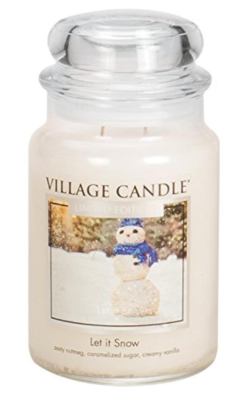 遮る平手打ち新しい意味Village Candle Let It Snow 26オンスガラスJar Scented Candle, Large