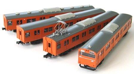 【GREENMAX・グリーンマックス】鉄道模型NゲージJR103関西形 ユニット窓車 高運転台 オレンジ 4輛編成トータルセット(1068T)