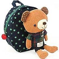 Cuby 迷子防止ひも リード付き ベビー リュック クマ ぬいぐるみ ( 1-6歳子供リュックサック ベビーギフトや贈り物) (ブルーB)