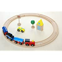 木製おもちゃのだいわ 汽車レールセット ベーシック 13pcs
