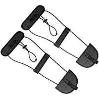 VORCOOL 2PCS Bag Bungee Luggage Straps Suitcase Backpack Carrier Carry On Bungee Straps Travel Accessories (Black)
