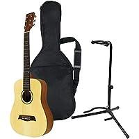 S.Yairi ヤイリ Compact Acoustic Series ミニアコースティックギター YM-02/NTL ナチュラル (ソフトケース付属) + ギタースタンドセット