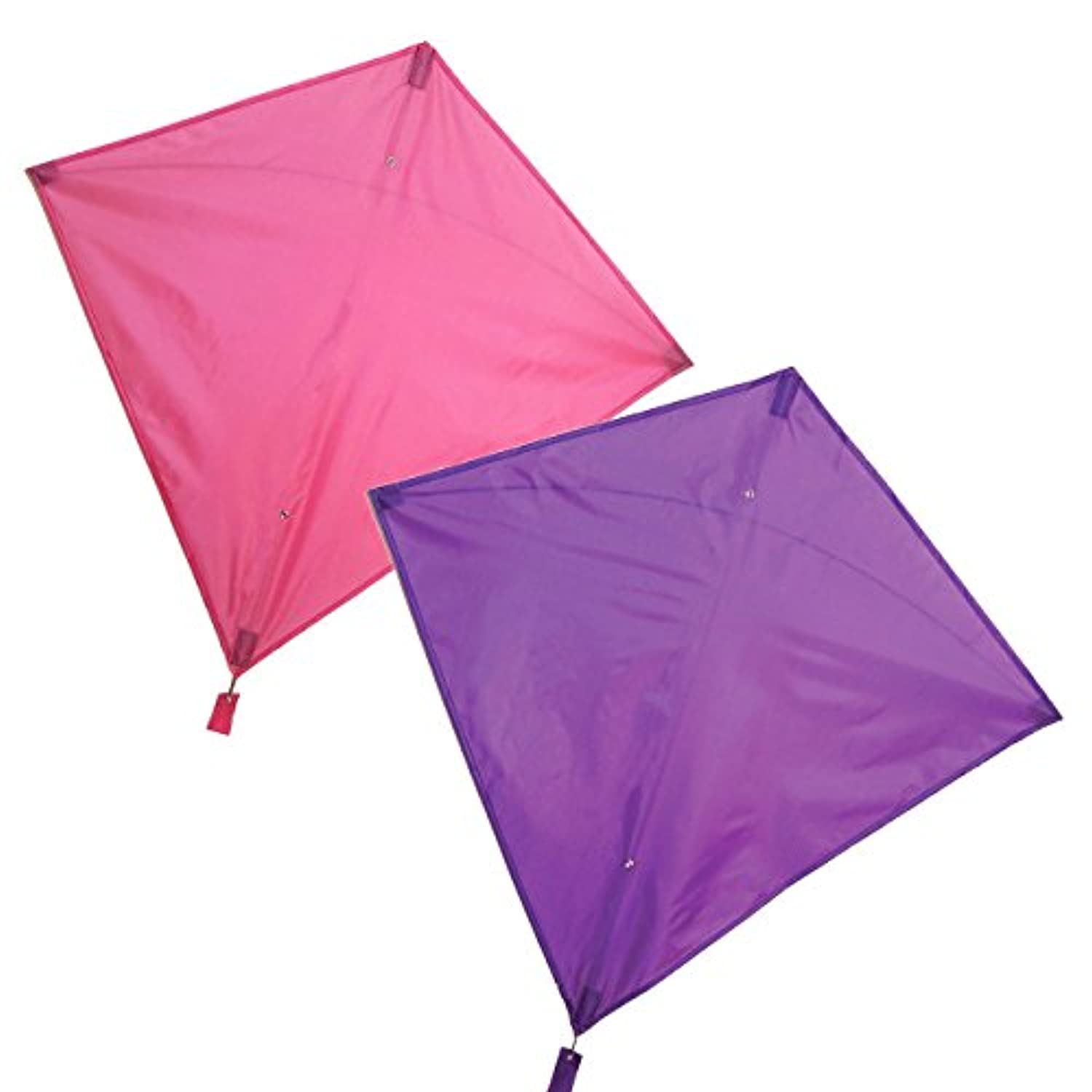 Maven Gifts : In the Breeze 2 - Pack Kiteバンドル – 30インチパープルColorfly Diamond Kite with 30-inchピンクColorfly Diamond Kite – Great for Beginners and Kids