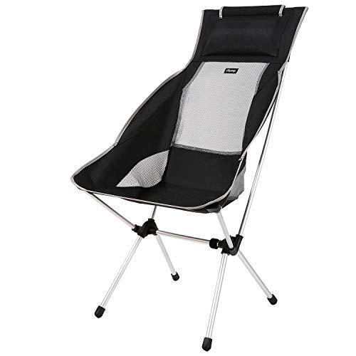 Fazitrip アウトドアチェア 折りたたみ 背もたれ ハイバックチェア 軽量 耐荷重150kg 弾力性 持ち運びやすい 簡単に組み立てる 椅子 キャンプ 登山 釣り