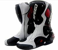 『pro-biker』バイクブーツ ライダースブーツ モトクロスブーツ レーシングブーツ シューズ ホワイト サイズ 25.5cm