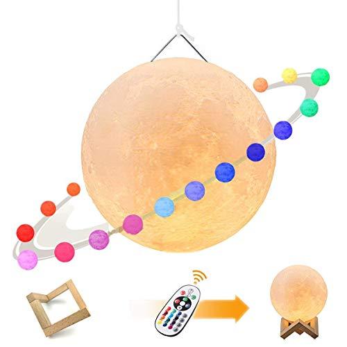 月ライト 吊る下げり可能 16色切り替え タッチ調光 無段階...