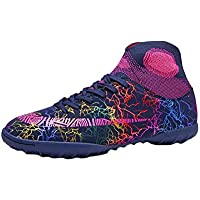Inlefen Unisex Kids' Lacing Fitness and Workout Running Soccer High Top Sneaker