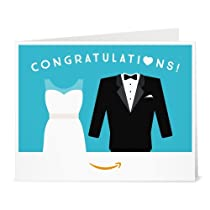 Amazonギフト券- 印刷タイプ(PDF) - 結婚祝い(ドレス&タキシード)
