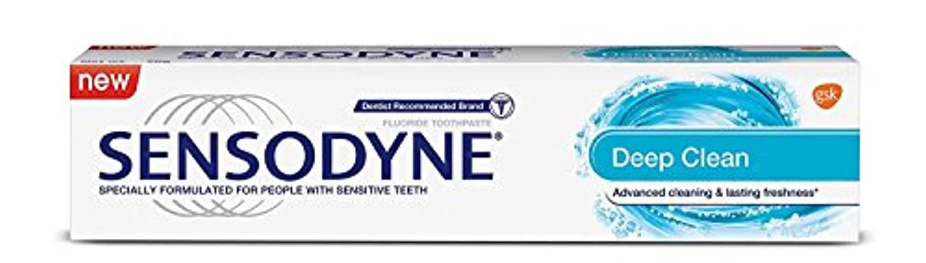 上へ遅滞溶けるSensodyne Sensitive Toothpaste - Deep Clean, 70g