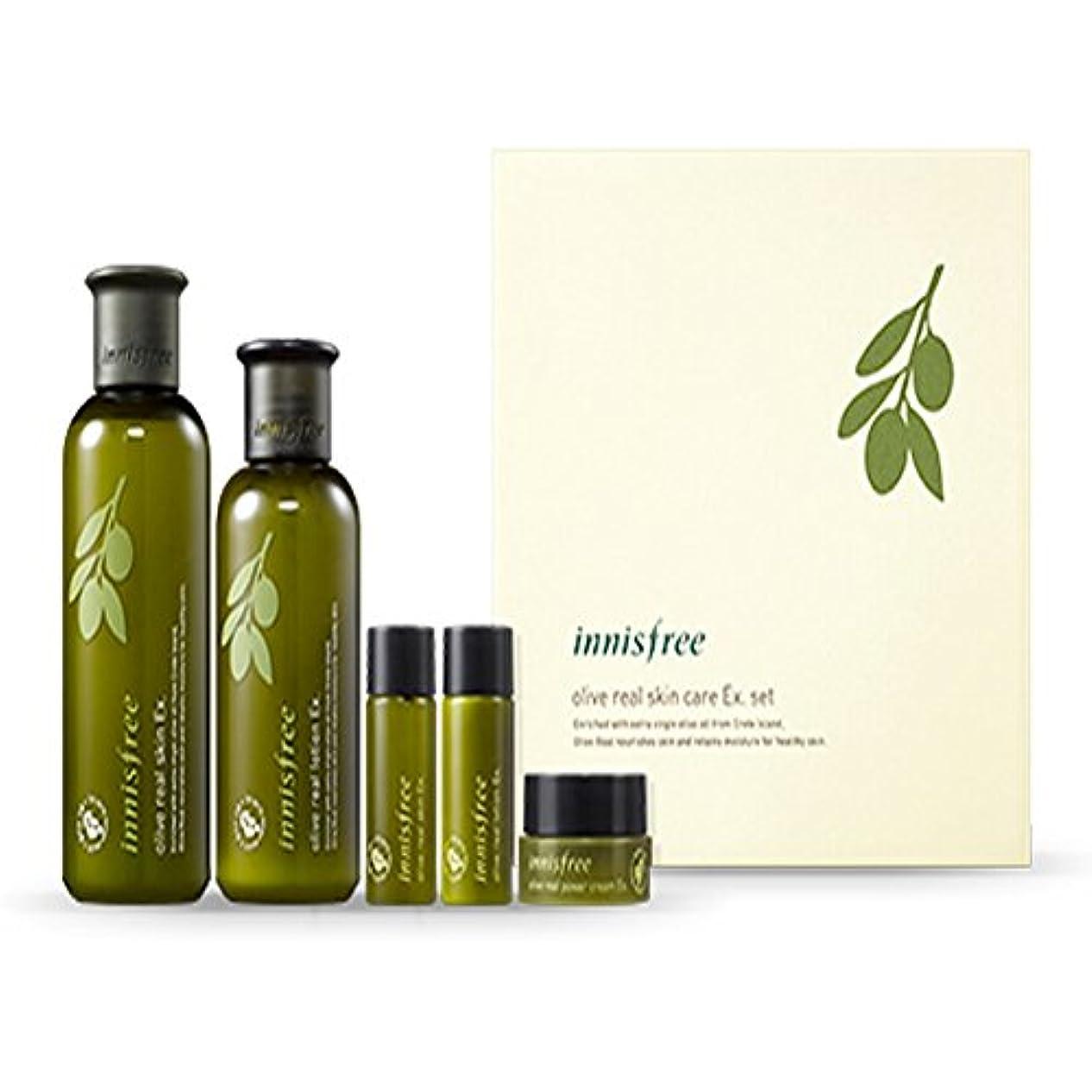 手数料ホテル振動するイニスフリーオリーブリアルスペシャルケアセット(5アイテム)Innisfree Olive Real Special Care Ex. Set ( 5 Item ) [海外直送品][並行輸入品]