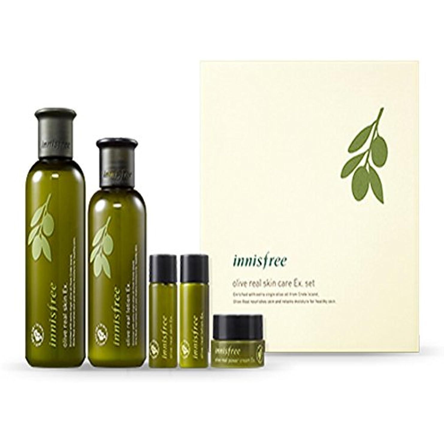 最初銀行筋肉のイニスフリーオリーブリアルスペシャルケアセット(5アイテム)Innisfree Olive Real Special Care Ex. Set ( 5 Item ) [海外直送品][並行輸入品]