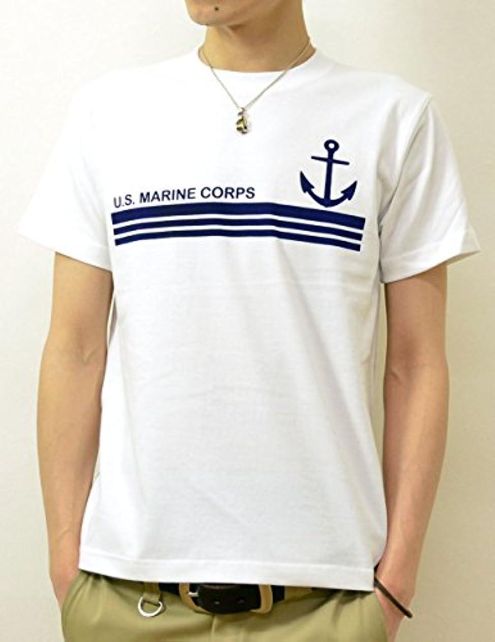 栄光見出し曲線(ジーンズバグ)JEANSBUG MARINE BORDER オリジナル マリン ミリタリー プリント 半袖 Tシャツ メンズ レディース 大きいサイズ ST-MRNBD