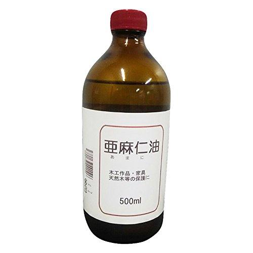 中部サンデー販売 乾性油 亜麻仁油 500ML クリア 奥行7.5×高さ18.6×幅7.5cm
