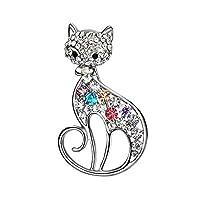 Ruikey キラキラ ブローチ ブローチ 猫 人気 動物 ブローチ ブローチ 卒業式 かわいい デザイン 誕生日 記念日 プレゼント