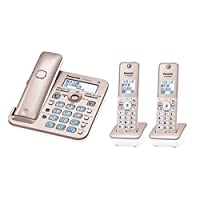 パナソニック デジタルコードレス電話機 子機2台付き 迷惑電話対策機能搭載 ピンクゴールド VE-GD55DW-N