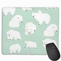 シロクマ マウスパッド ゲーミング ゲームオフィス 高級感 おしゃれ 防水 耐久性が良い 滑り止めゴム底 適用 マウスの精密度を上がる