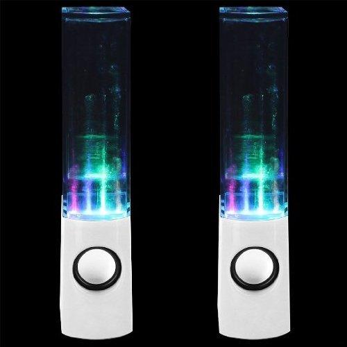 RoomClip商品情報 - Expower(R)音に合わせて水が踊る4色光と噴水スピーカー 光るスピーカー パソコン スマートフォン ゲーム機 MP3対応スピーカー ホワイト