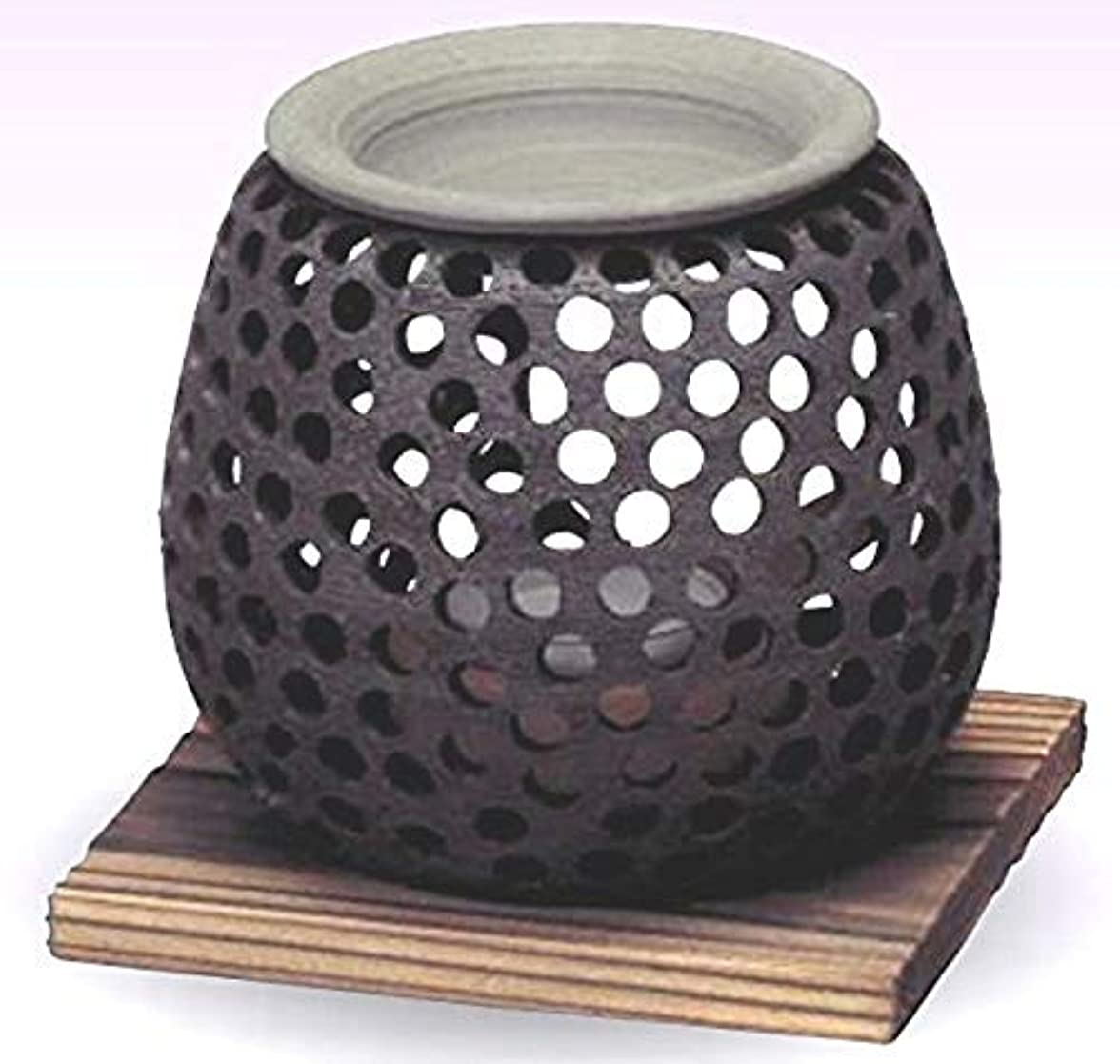 ルーフ指令アパル常滑焼 石龍作 茶香炉(アロマポット)径10×高さ10cm