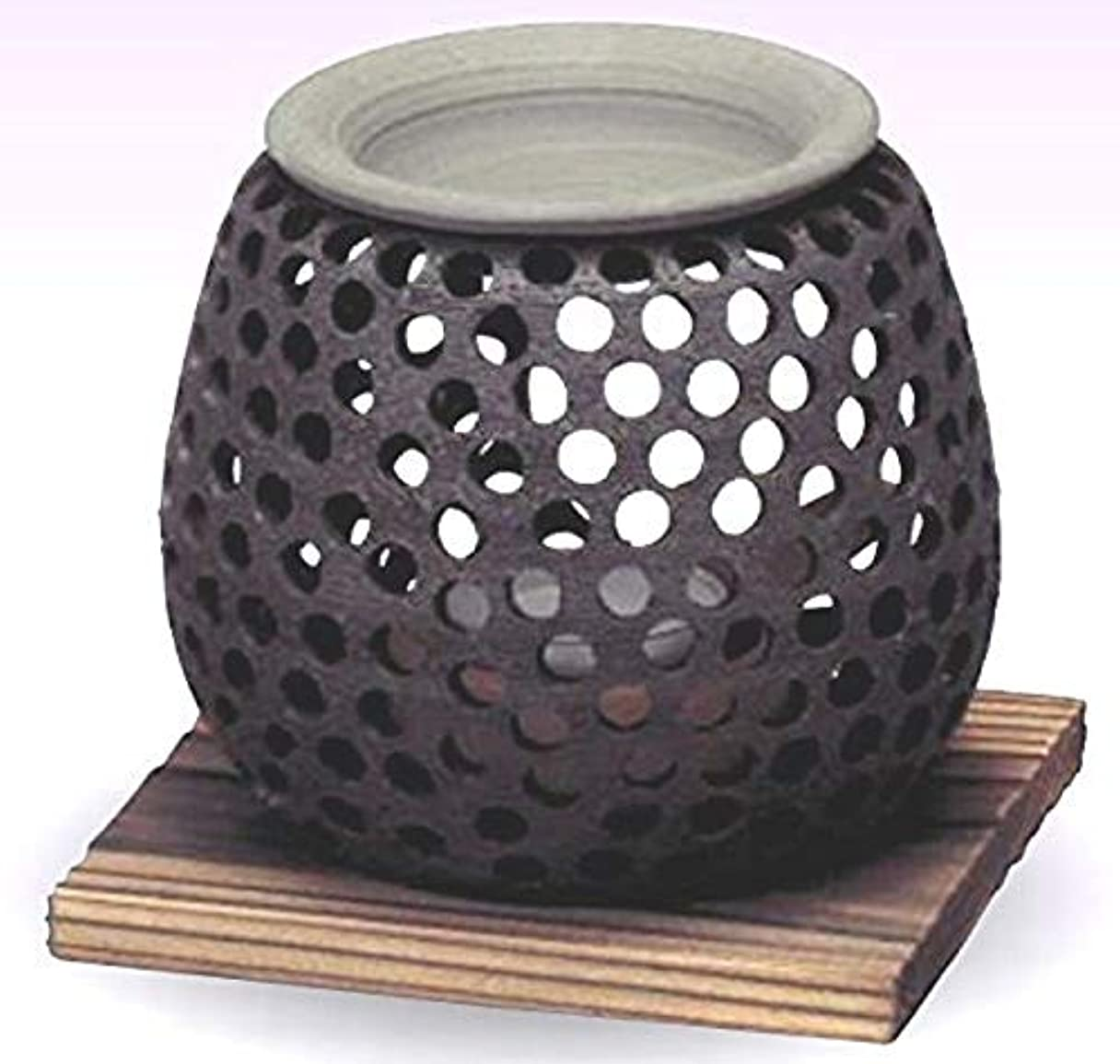 イル雇用者フロー常滑焼 石龍作 茶香炉(アロマポット)径10×高さ10cm