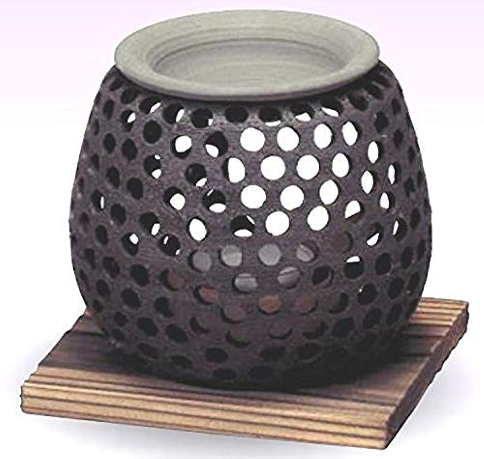 累積拍車批判する常滑焼 石龍作 茶香炉(アロマポット)径10×高さ10cm