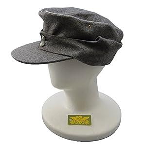 旧 ドイツ軍 独軍 復刻 キャップ 規格帽 ウール 帽子 軍帽 ハット サバゲー 装備 コスプレ ドイツ 帽 大戦 士官 将校 L