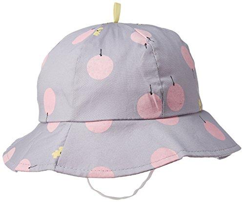 【Kan Sei+】丸洗い 赤ちゃん用の帽子では珍しいつば付き!男の子 女の子 100%コットン 頭上だけでなく日差しの眩しさからも守ってくれる 紫外線 uvカット (パープル)