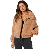 All About Eve Women's Womens Carey Teddy Jacket Cotton Soft Black