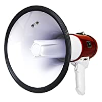 30W 大迫力 拡声器 メガホン ハンドマイク付 マイク音量調節 サイレン機能 イベント 集会 お祭り 学校 行事に