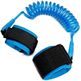 1.5m Adjustable Children Kids Safety Anti-Lost Wrist Link Band Bracelet Wristband Secure for Baby Harness Strap Rope Leash - Blue