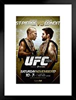 Pyramid America UFC 154 Georges St Pierre vs Carlos Condit Sports 20x26 inches ブラック 306082