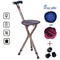 LEDおよび警報多機能の杖で調節可能な松葉杖の折る腰掛けの高さ