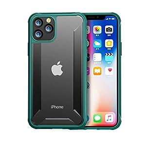 IPhone XI Pro Max(2019)用の軍用グレードの耐粉砕性および耐衝撃性のプレミアム素材用のiPhone 11のケース衝撃保護,Green-iphone 11 6.5