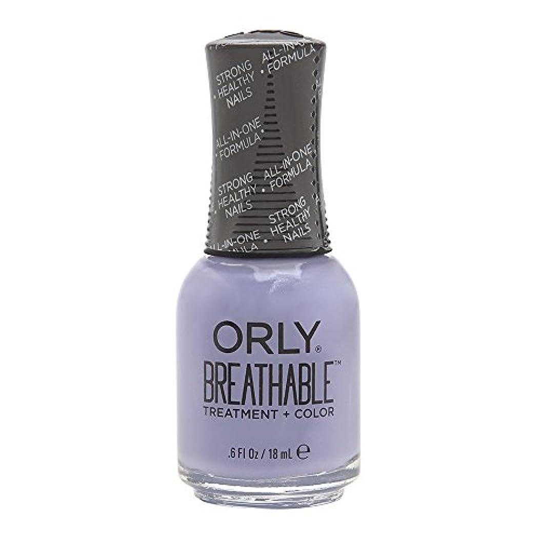 うまくやる()パッチ手配するOrly Breathable Treatment + Color Nail Lacquer - Just Breathe - 0.6oz/18ml