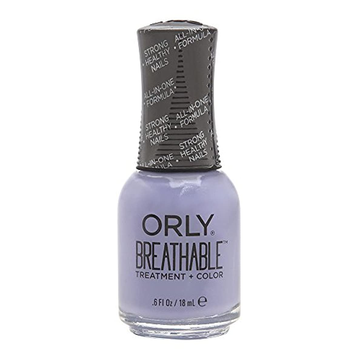 腹痛医療過誤一時解雇するOrly Breathable Treatment + Color Nail Lacquer - Just Breathe - 0.6oz/18ml