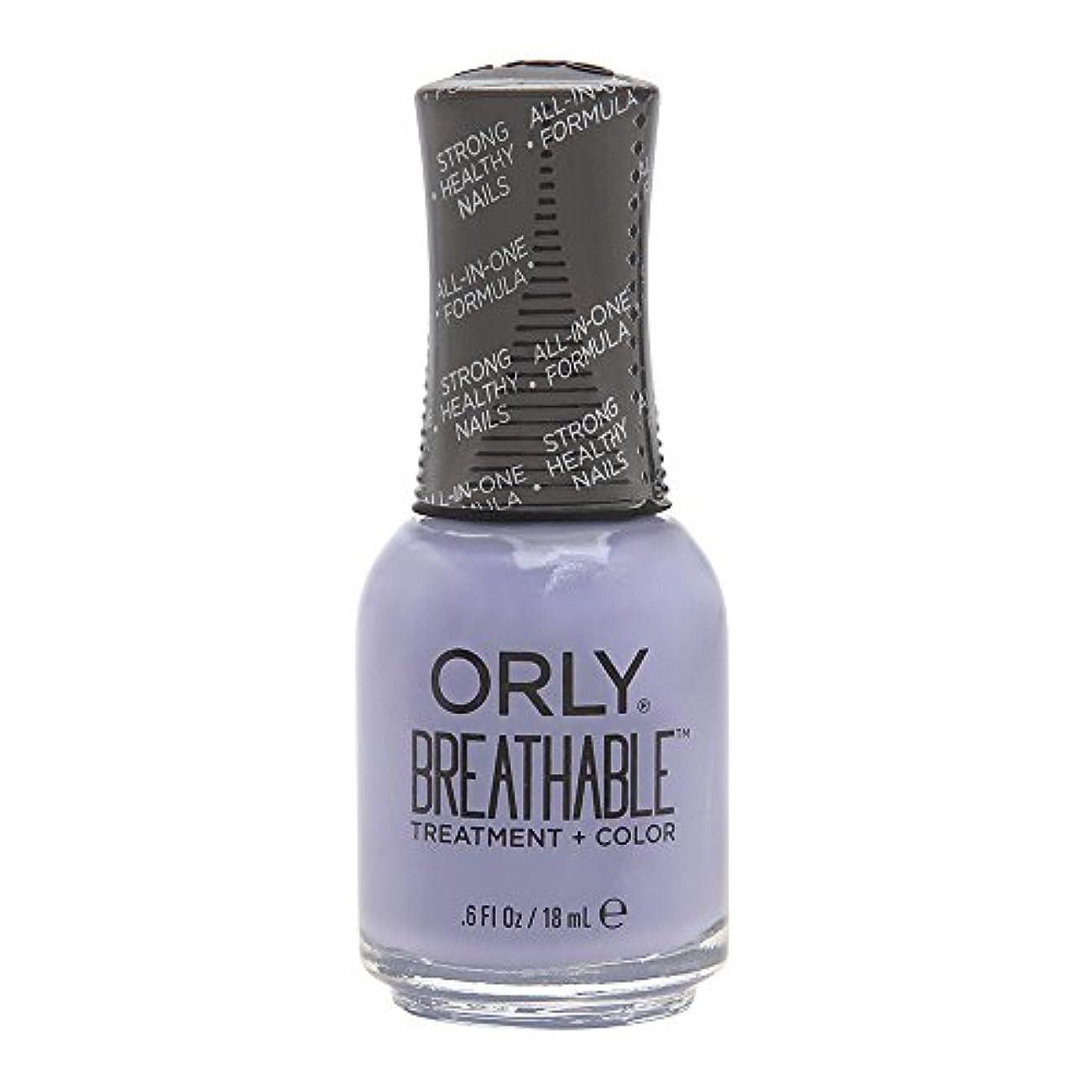 ペイント混雑即席Orly Breathable Treatment + Color Nail Lacquer - Just Breathe - 0.6oz/18ml