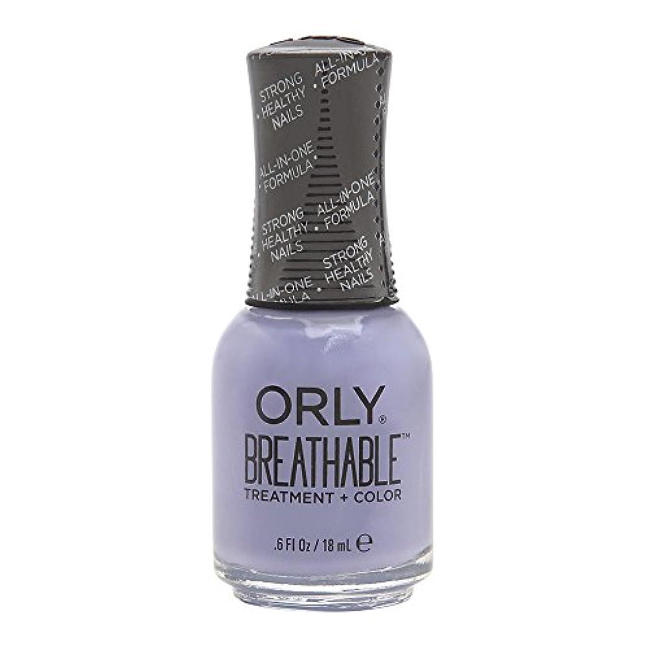バット広がり盆地Orly Breathable Treatment + Color Nail Lacquer - Just Breathe - 0.6oz/18ml