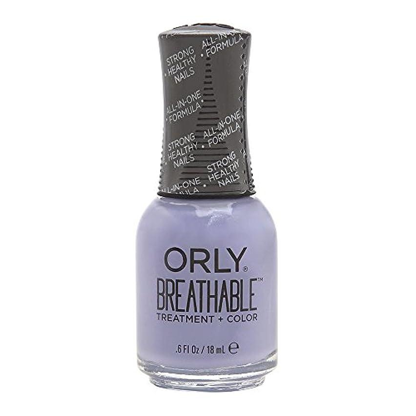 編集者統治するタオルOrly Breathable Treatment + Color Nail Lacquer - Just Breathe - 0.6oz/18ml
