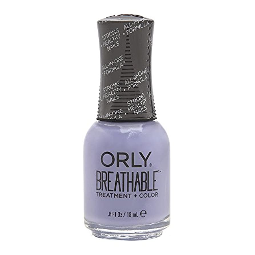 首パーフェルビッド姉妹Orly Breathable Treatment + Color Nail Lacquer - Just Breathe - 0.6oz/18ml