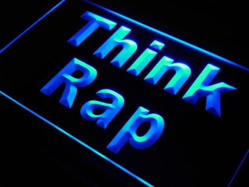 LED看板 ネオンプレート サイン 電飾・店舗看板・標識・サイン カフェ バー ADV PRO s198-b Think Rap Rapper Music DJ Studio Neon Light Sign