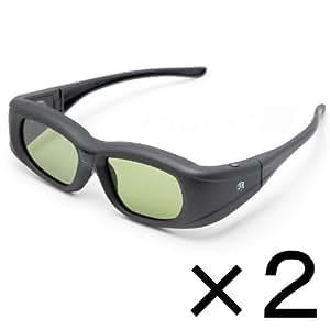 ルートアール Bluetooth互換 アクティブシャッター方式 3Dメガネ 充電式 2コセット RV-3DGBT1X2